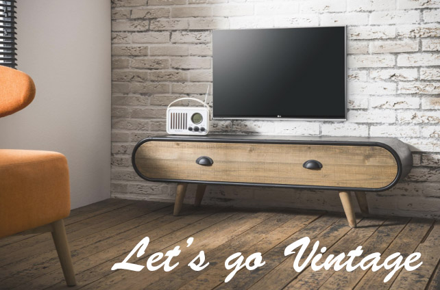 Let's go vintage tv meubel