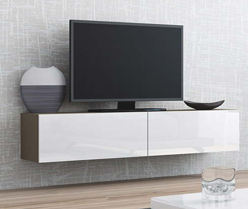 witte tv meubel zwevend model ao